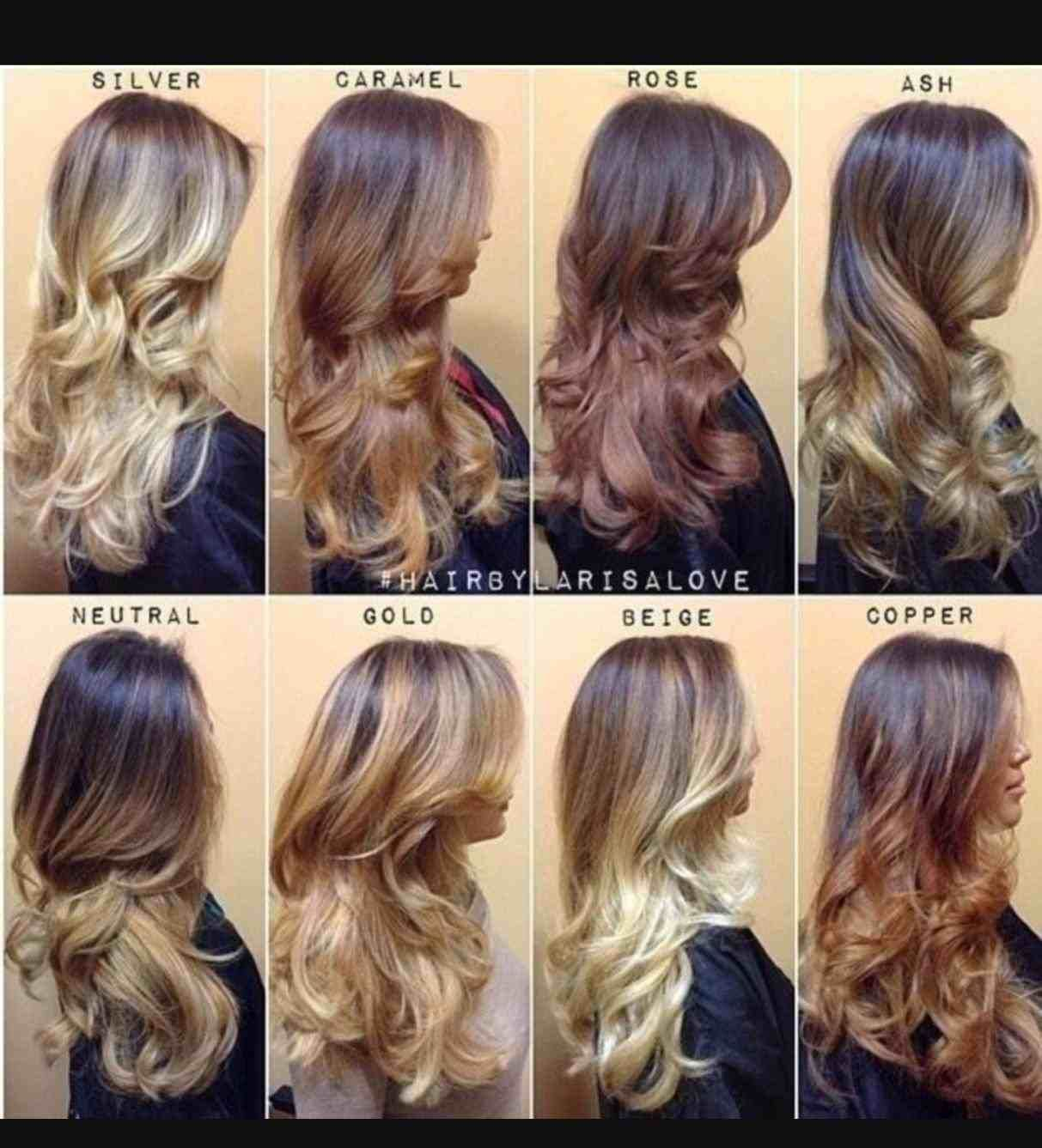 Cinnamon Brown Hair Color Chart Hair Stylist And Models Balayage
