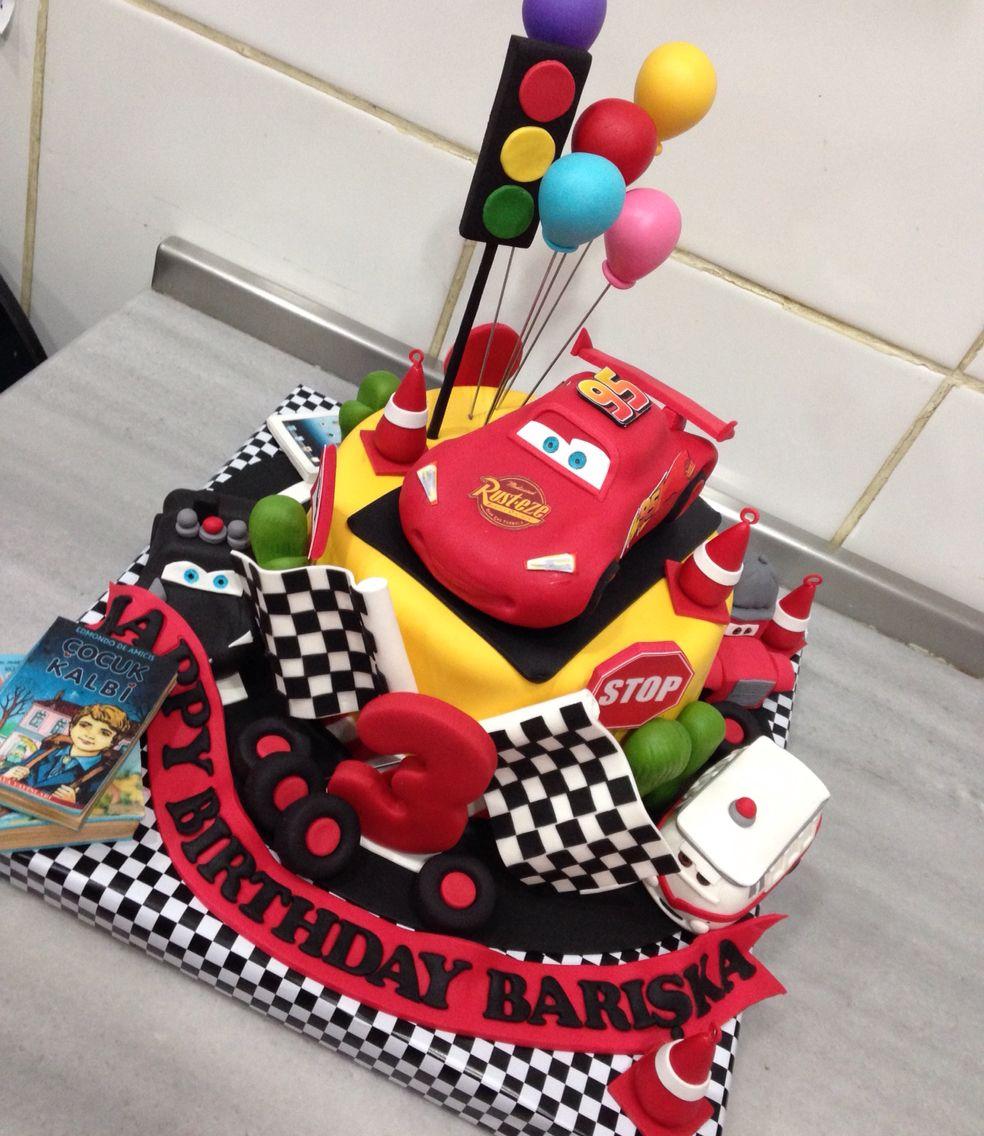 Şimşek mcqueen birthday cake