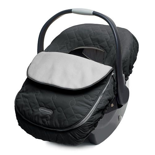 JJ Cole Car Seat Cover - Black - JJ Cole Collections - Babies