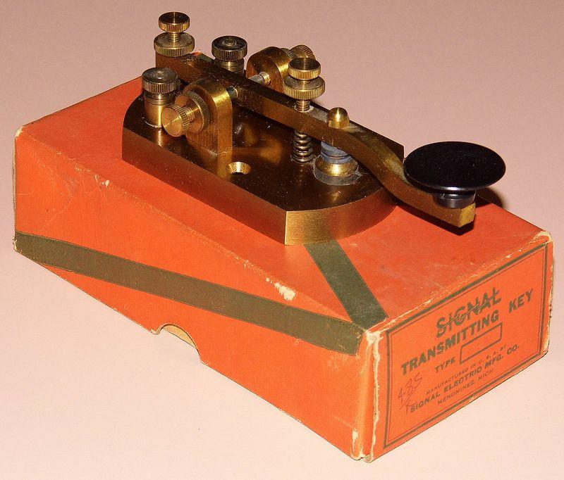 Vintage Signal Transmitting Key By Signal Electric Mfg. Co