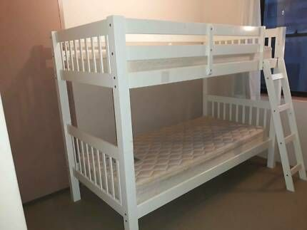 White timber bunk beds Beds Gumtree Australia Eastern