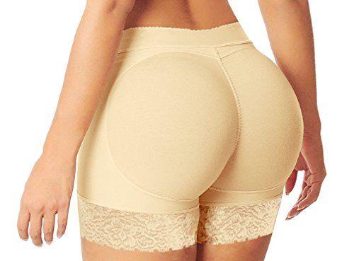 bf1f89aadf HelloTem Women Lace Padded Seamless Butt Hip Enhancer Sha…