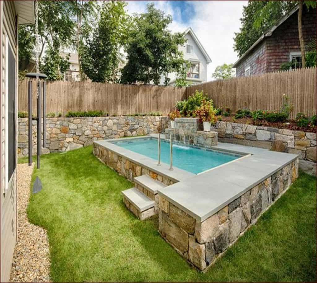 Above Ground Pools For Small Backyards And Small Backyard With Above Ground Swimming Pool Idea Pool I Small Pool Design Swimming Pools Backyard Backyard Pool