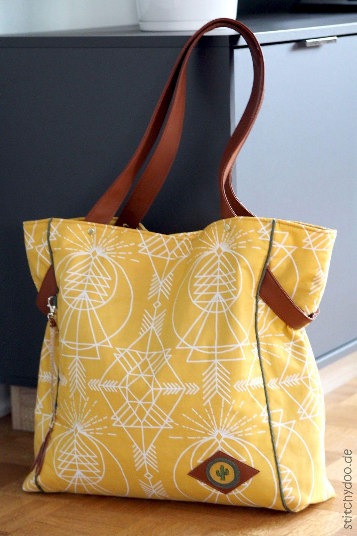 Carry Bag Tasche farbenmix   Anleitung nevana bag   Pinterest ...