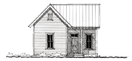 Historic Style House Plan with 2 Bed 1 Bath