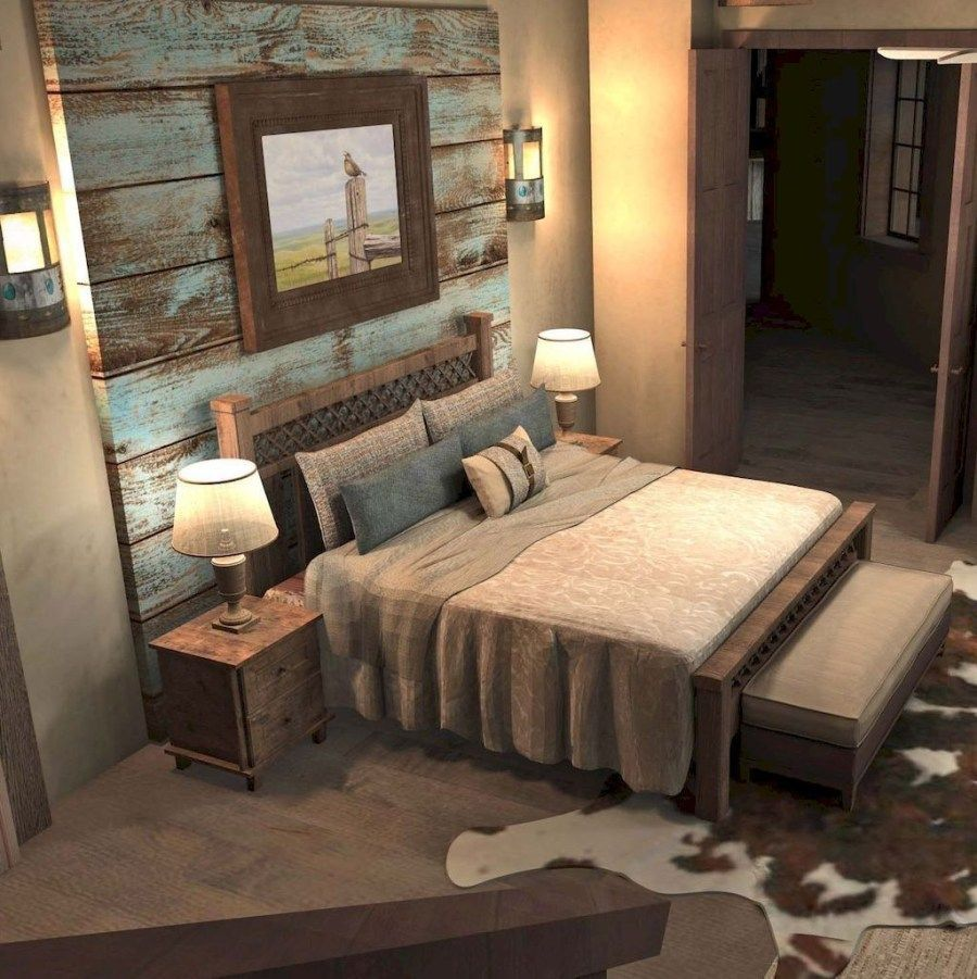 Inspiring Rustic Bedroom Ideas To Decorate With Style: Beautiful Farmhouse Master Bedroom Ideas 08