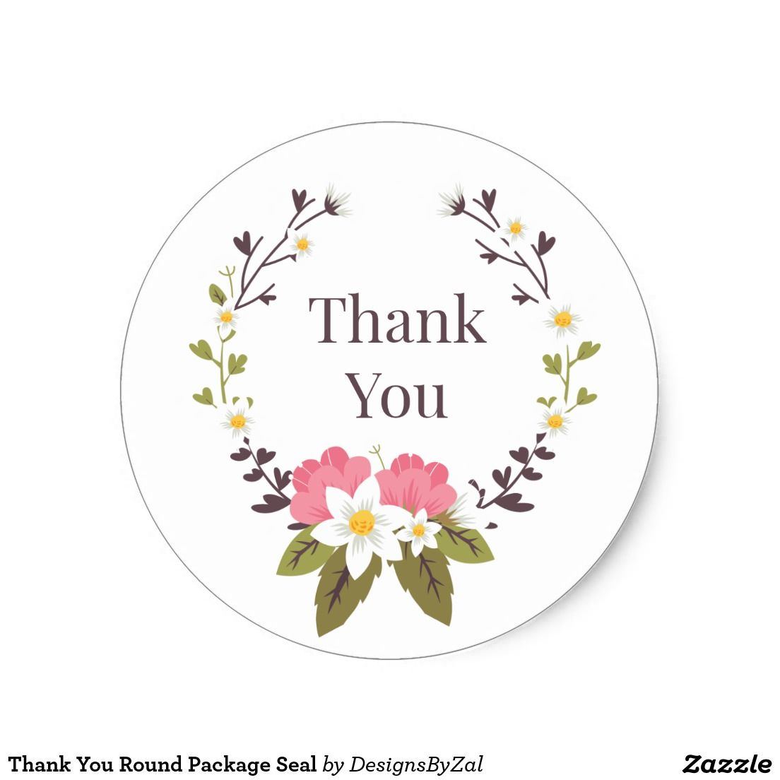 Thank You Round Package Seal Classic Round Sticker | Wedding Favor ...