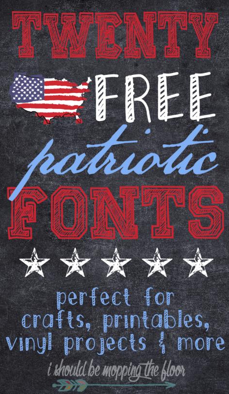21 Free Patriotic Font Downloads | Silhouette Projects | Cricut