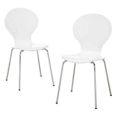 Modern White Chair modern stacking chair - white - set of 2: comes in many different