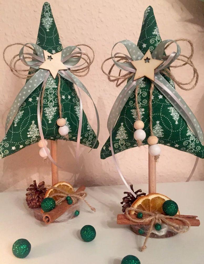 Ebay Weihnachtsdeko.2 Tannenbaume Weihnachten Tilda Landhaus Deko Ebay
