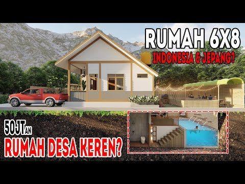 Desain Rumah Di Desa 6x8 Dengan 4kamar Tidur Konsep Indonesia Jepang Youtube Rumah Desain Rumah Rumah Pedesaan