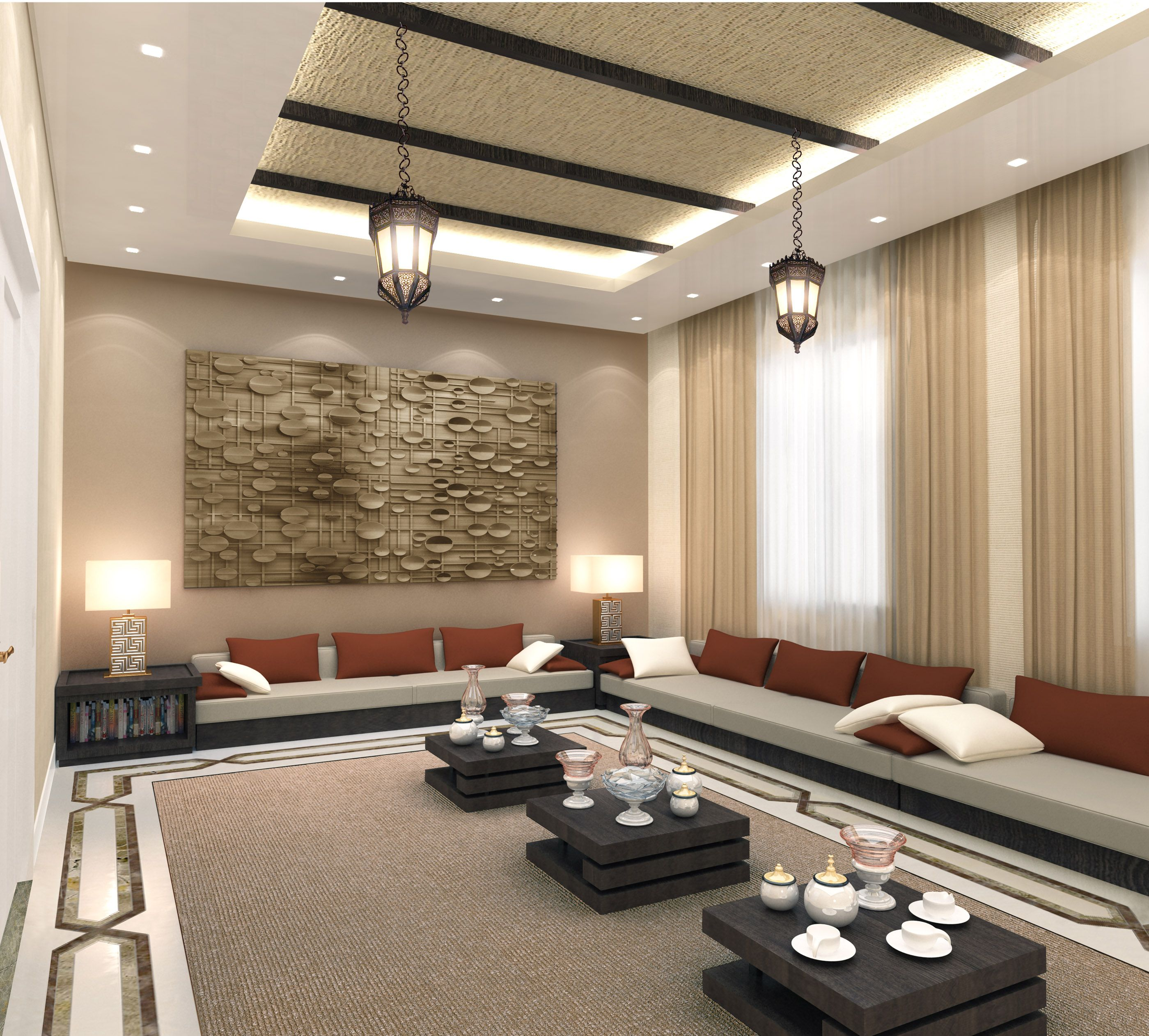 Arabian style majlis boudoir interiors majlis designs for Sitting room interior design pictures