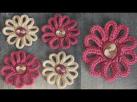 YouTube | Crochet | Pinterest | Bebé, Tejido y Flores
