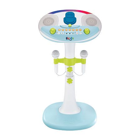 Singing Machine Kids Pedestal Karaoke System with Stand, One Size , White