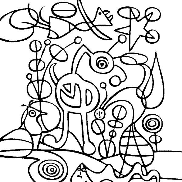 famous paintings coloring pages - photo#24