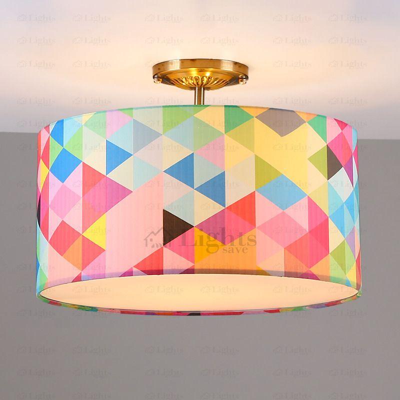 Pop Art Drum Shaped 3 Light Kids Room Ceiling