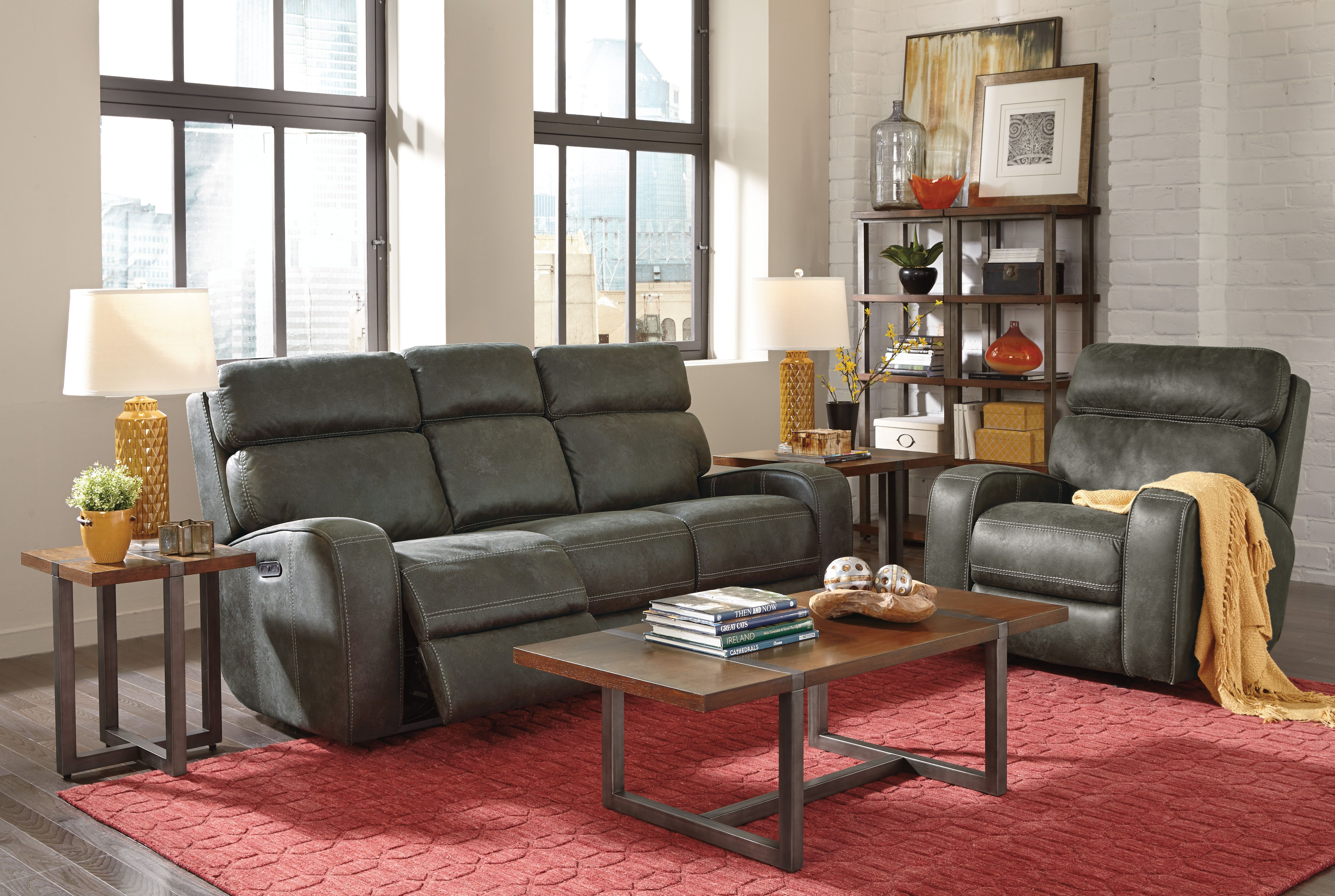 Sensational Flexsteel Tomkins Power Reclining Sofa With Power Headrests Ocoug Best Dining Table And Chair Ideas Images Ocougorg