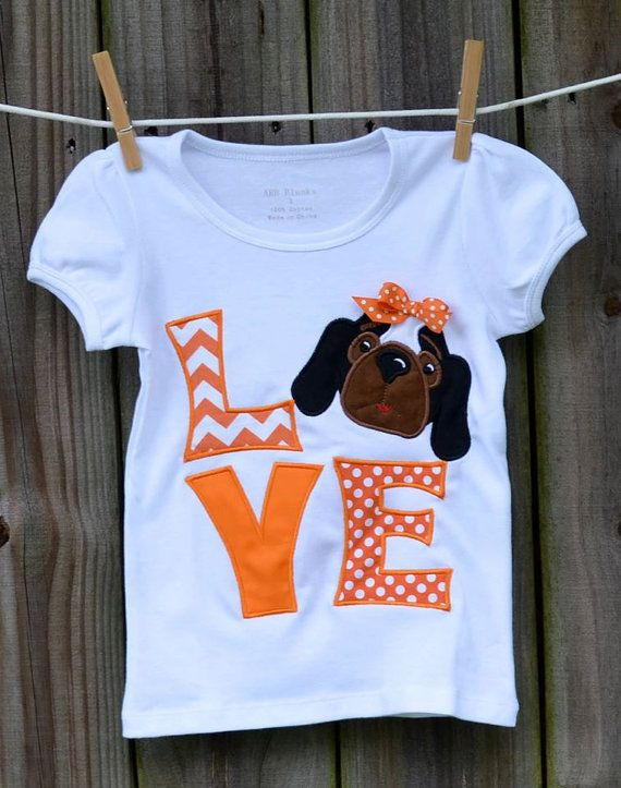 Personalized Love Tennessee Smokey Football Applique Shirt