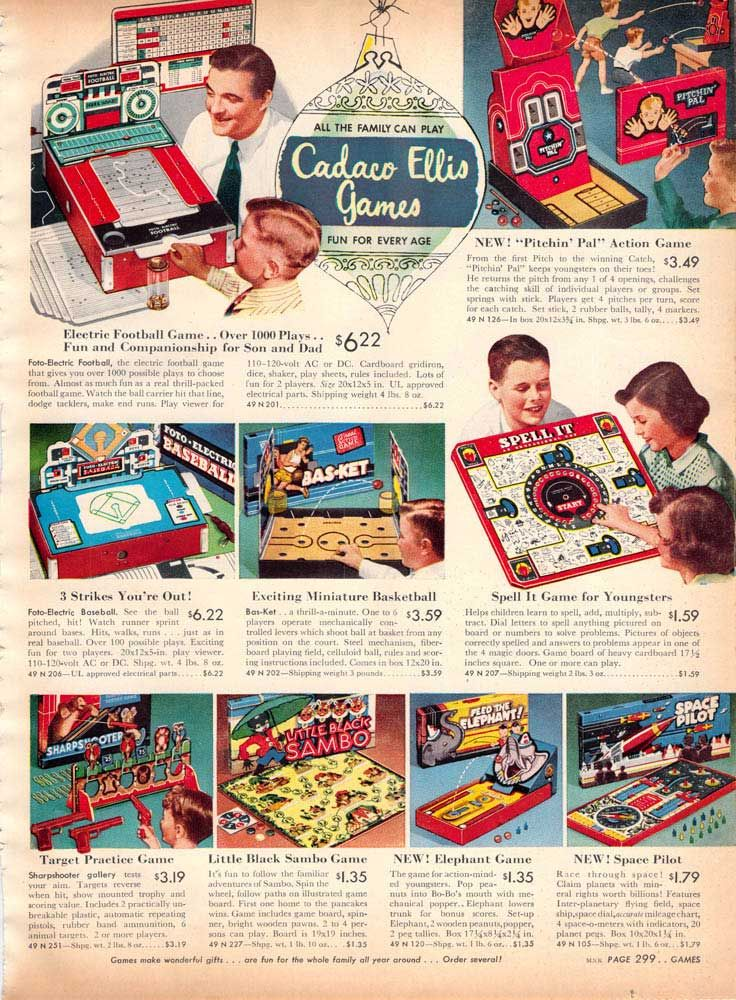 Vintage Games from a 1955 Spiegel catalog Vintage games