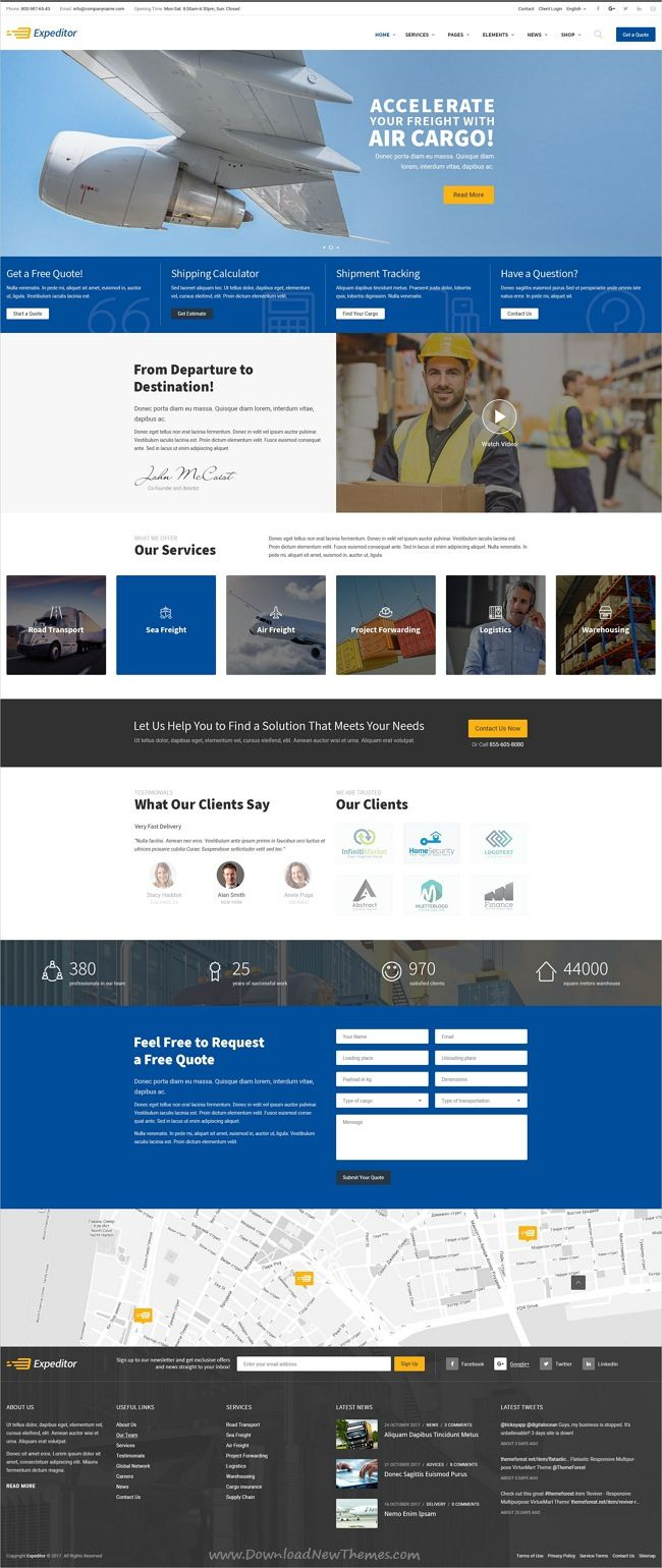 expeditor is clean and modern design psd template for freight