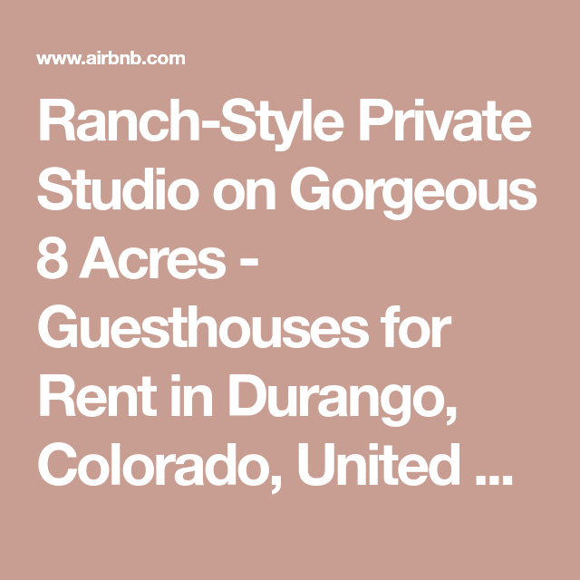 Ranch-Style Private Studio On Gorgeous 8 Acres