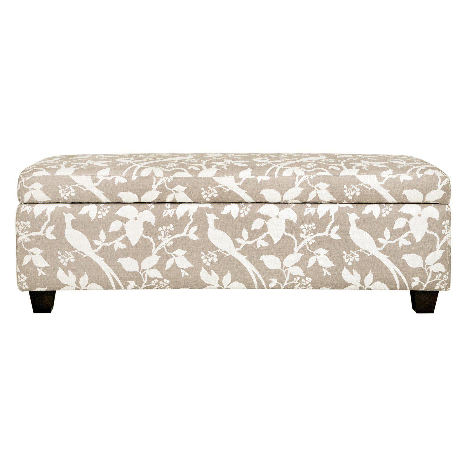 Have to have it angelohome kent storage bench ottoman modern bird branch tan 199 99