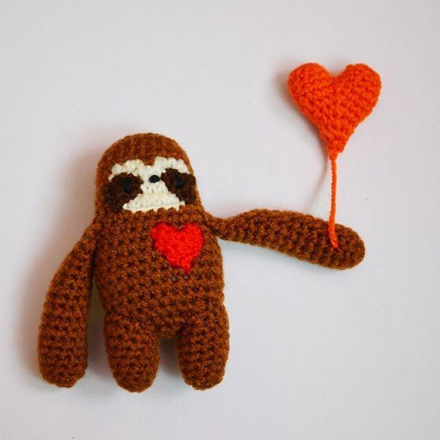 Sloth in love #sloth #slothlove #faultier #crochet #häkeln ...