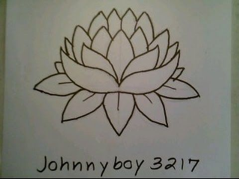 Worksheet. How To Draw A Lotus Flower Easy For Everyone Como dibujar una flor