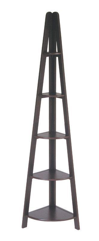 Office Star OSP Designs ES22 Corner Ladder Bookcase