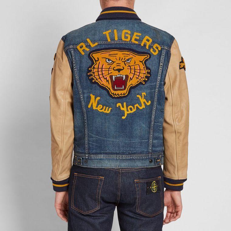 c369a78beab4 Polo Ralph Lauren Varsity Denim Jacket (Medium Stonewash)