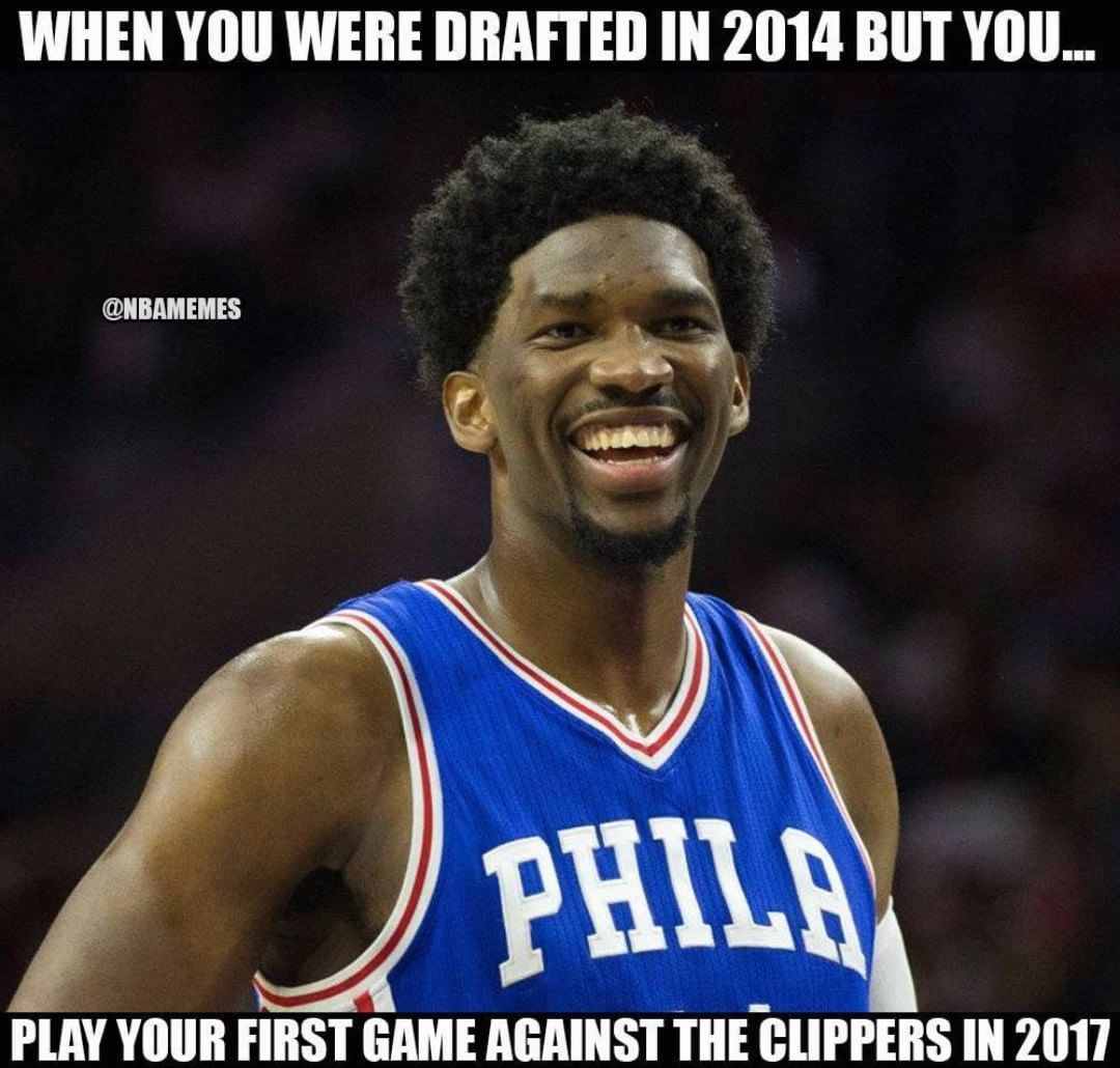 Joel Embiid Has Missed Quite Some Time Sixers Nation Source Nba Funny Phil Nba Memes