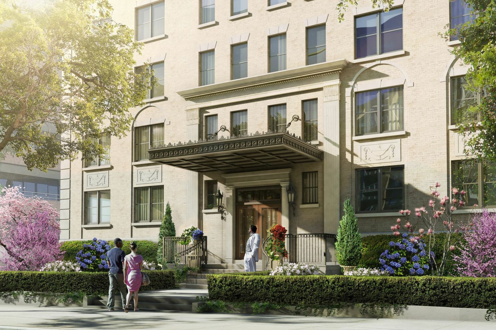 The Bond Apartments In Dc Newly Renovated Ultra Contemporary Behind A Gracious Historic Facade In The W Luxury Apartments New York Style Apartment Building