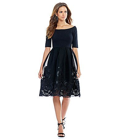 95df3a07954 Gianni Bini Dana Off The Shoulder Embroidered Skirt Dress  Dillards ...