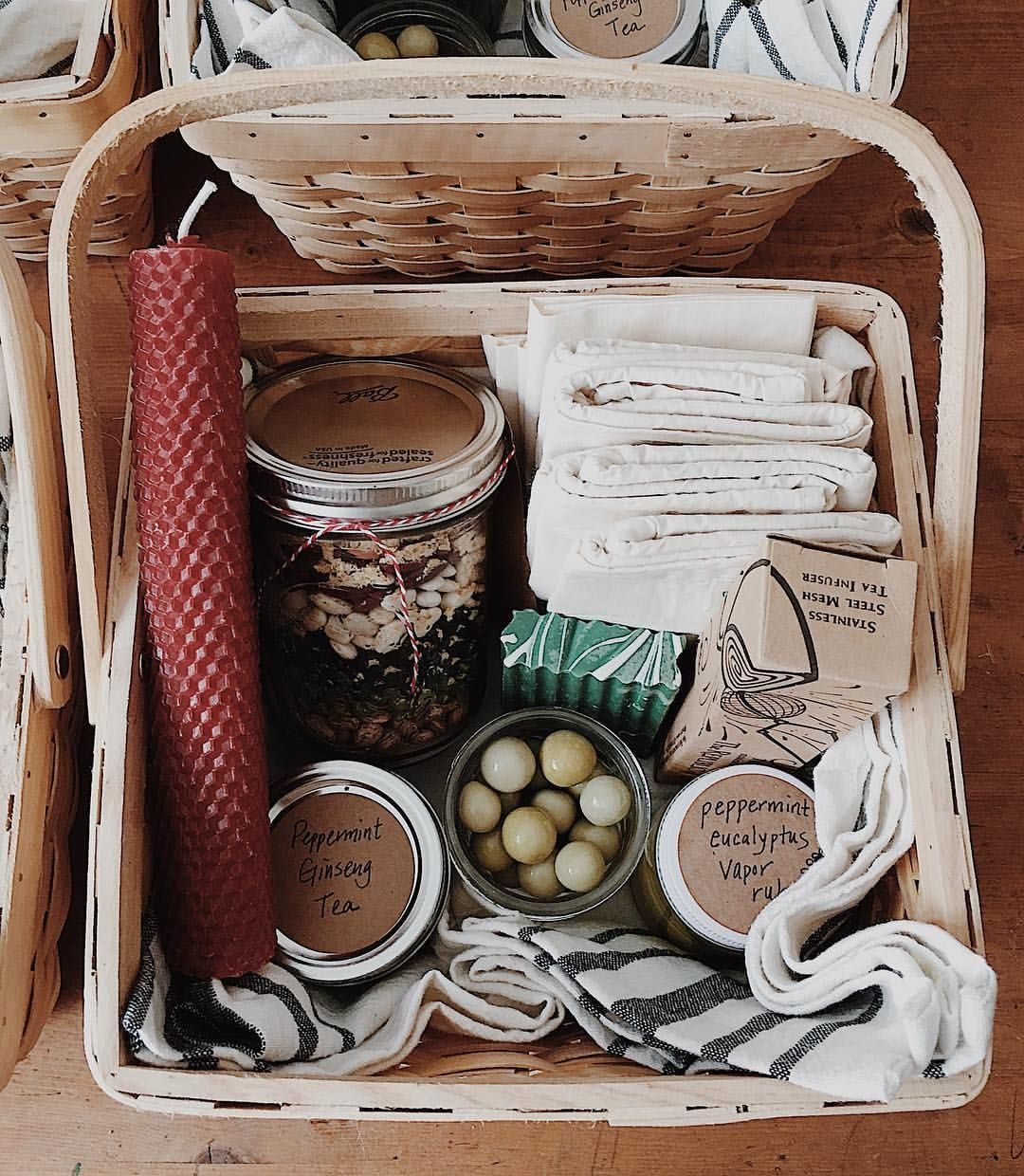 Putting Together Zero Waste Ish Gift Baskets For Teachers