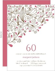 Image Result For 60th Birthday Invitations Female