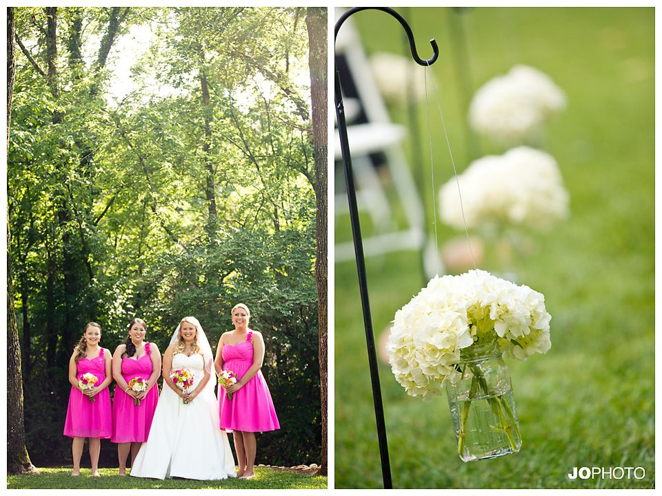 pink bridesmaid dresses, smithview pavilion, knoxville wedding photographer, maryville wedding venue