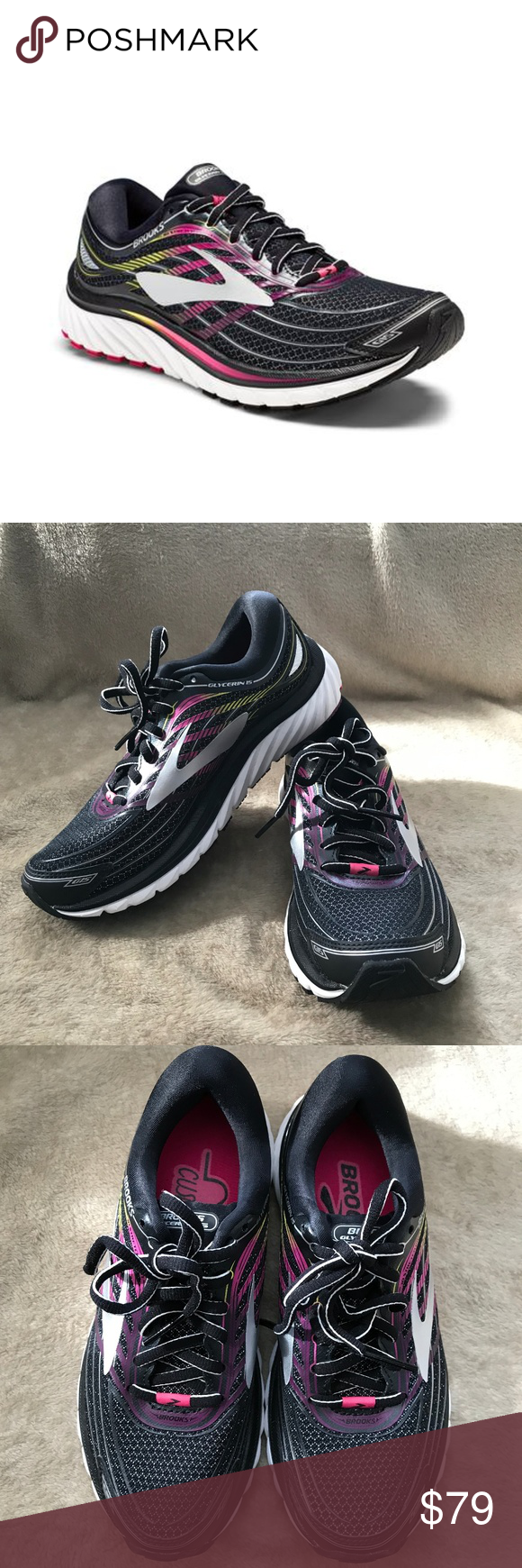 b866e48874d Women s Brooks Glycerin 15 The Brooks Glycerin 15 running shoes are a  cushioned