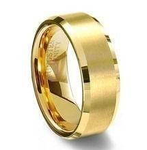 61977d64dcd par de aliança tungstênio tradicional 10mm folheada a ouro