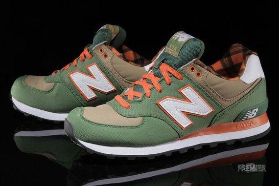 new balance green orange 574