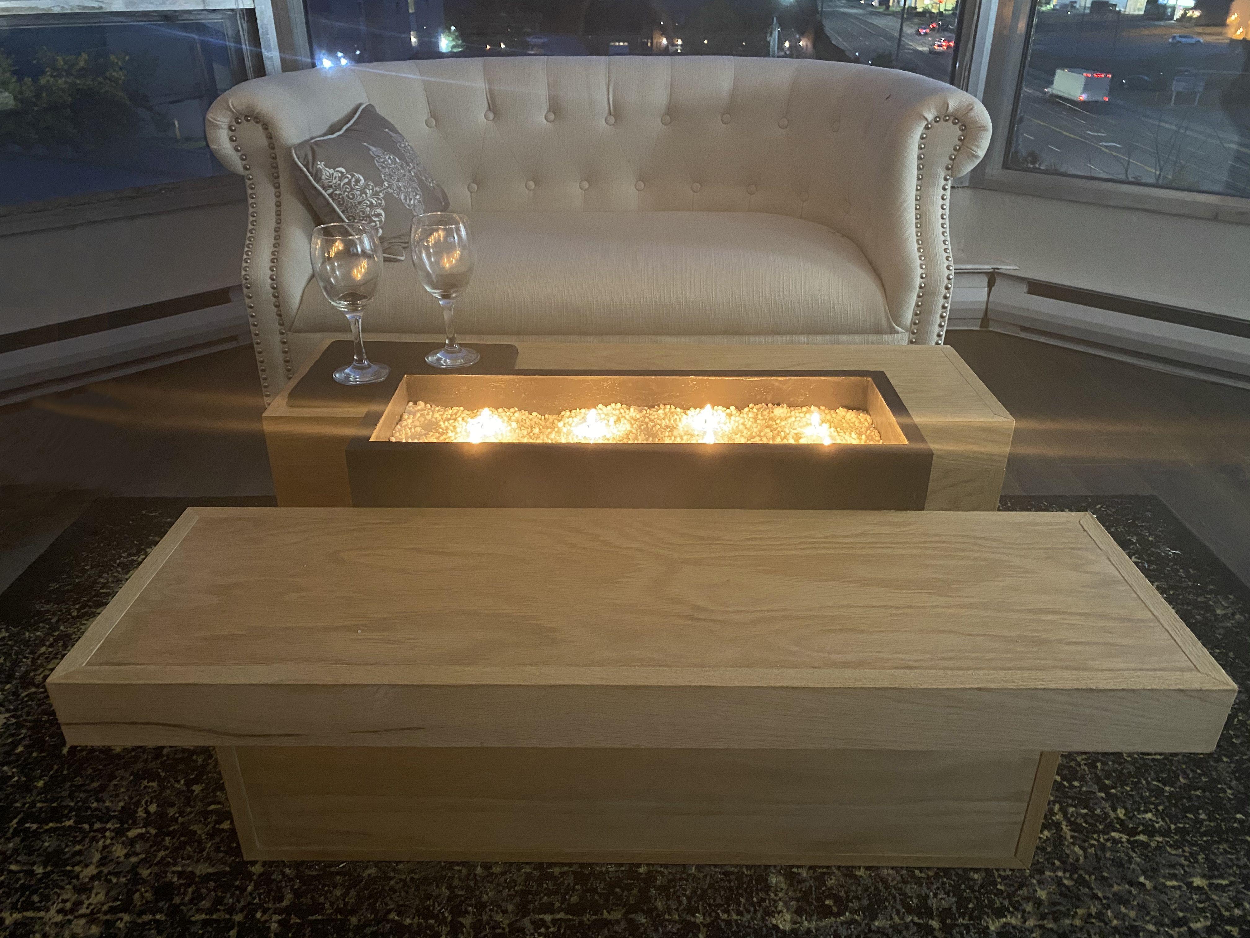 Modern Fire Pit Fireplace Coffee Table Coffee Table Fire Pit Coffee Table Coffee Table Fireplace [ 3024 x 4032 Pixel ]
