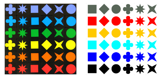Qwirklecomparison Color Blind Friendly Qwirkle Pinterest
