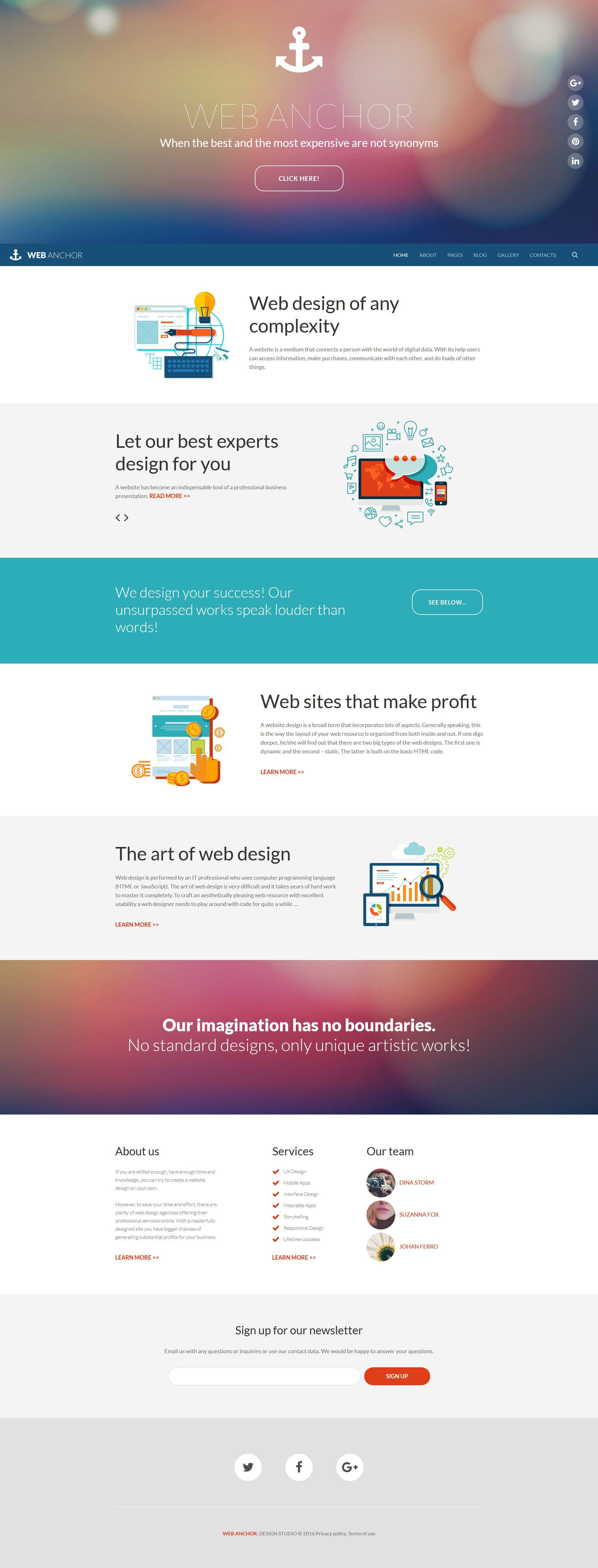 Web Anchor Joomla Template Web Design Joomla Templates Website Design