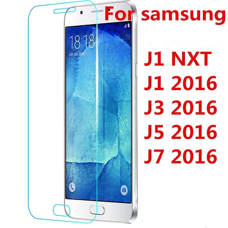 2016 Screen Protector Film Front Tempered Glass For Galaxy J1 J3 J5 J7 2016 J120F J320F J510F J710F J1 Nxt J1mini S3 S4 S5 case