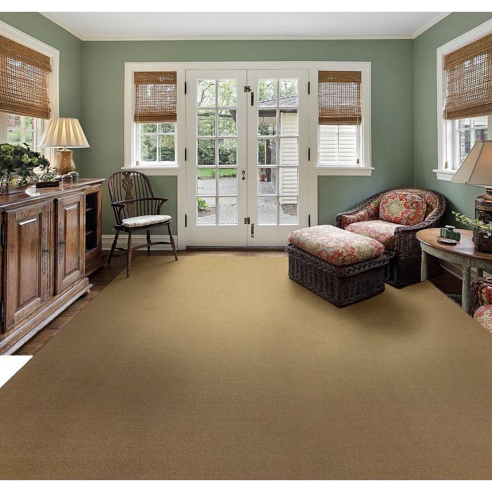 Natco Sisal Natural 8 Ft. X 12 Ft. Bound Carpet Remnant