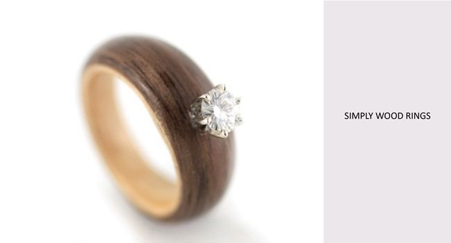 love is now walnut maple engagement ring this wooden engagement ring by simply - Eco Friendly Wedding Rings