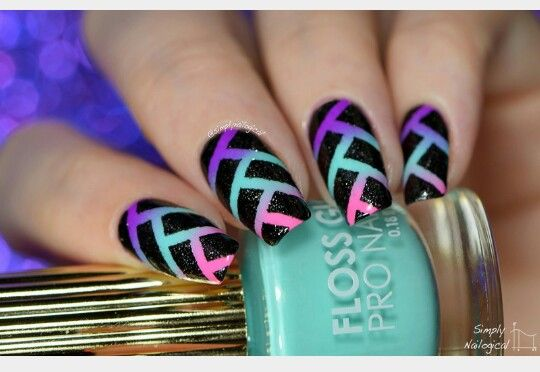 Gradient fishtail nails