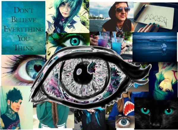 """""""the all seeing eye (mummy)"""" by kenz-rabbitt ❤ liked on Polyvore"""