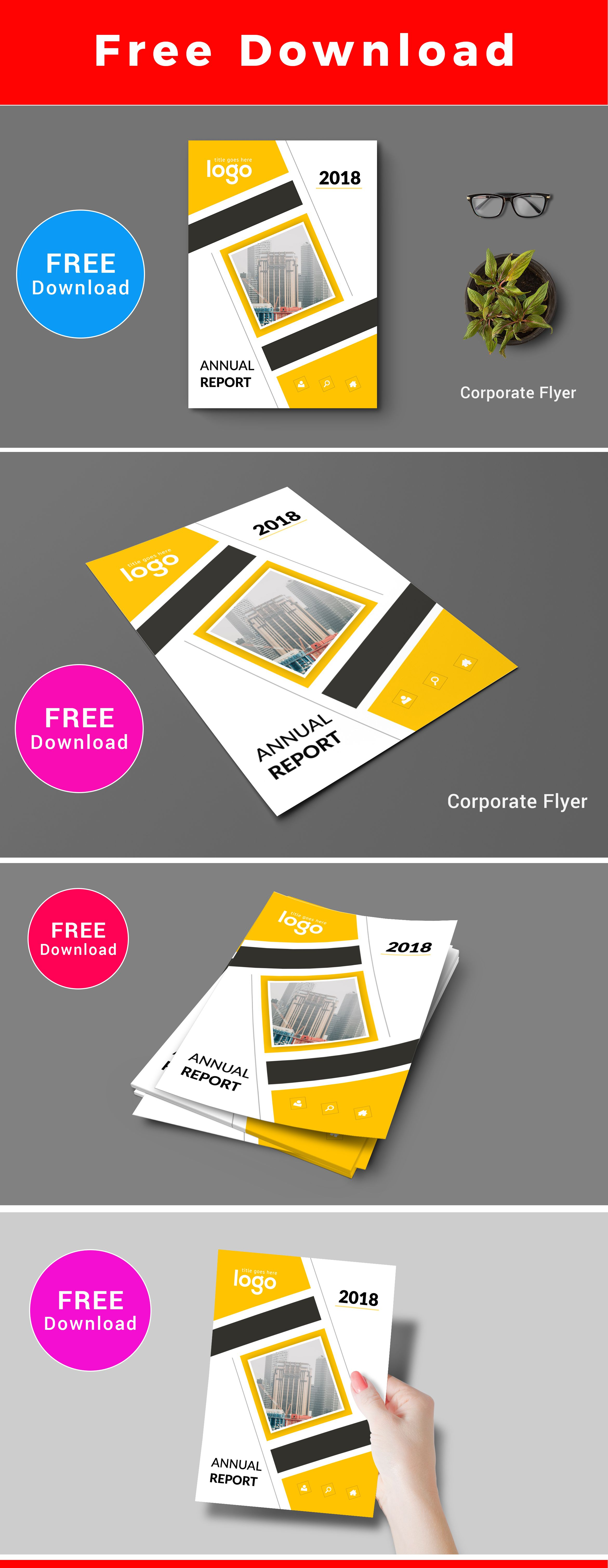 Free Download Flyer Template Corporate Business Bifold Brochure