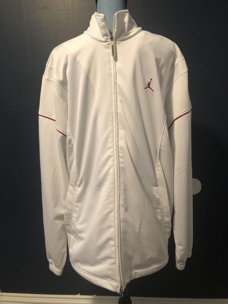 eba803a94223 XL White Jordan Full Zip Athletic Jacket  fashion  clothing  shoes   accessories  mensclothing  coatsjackets (ebay link)