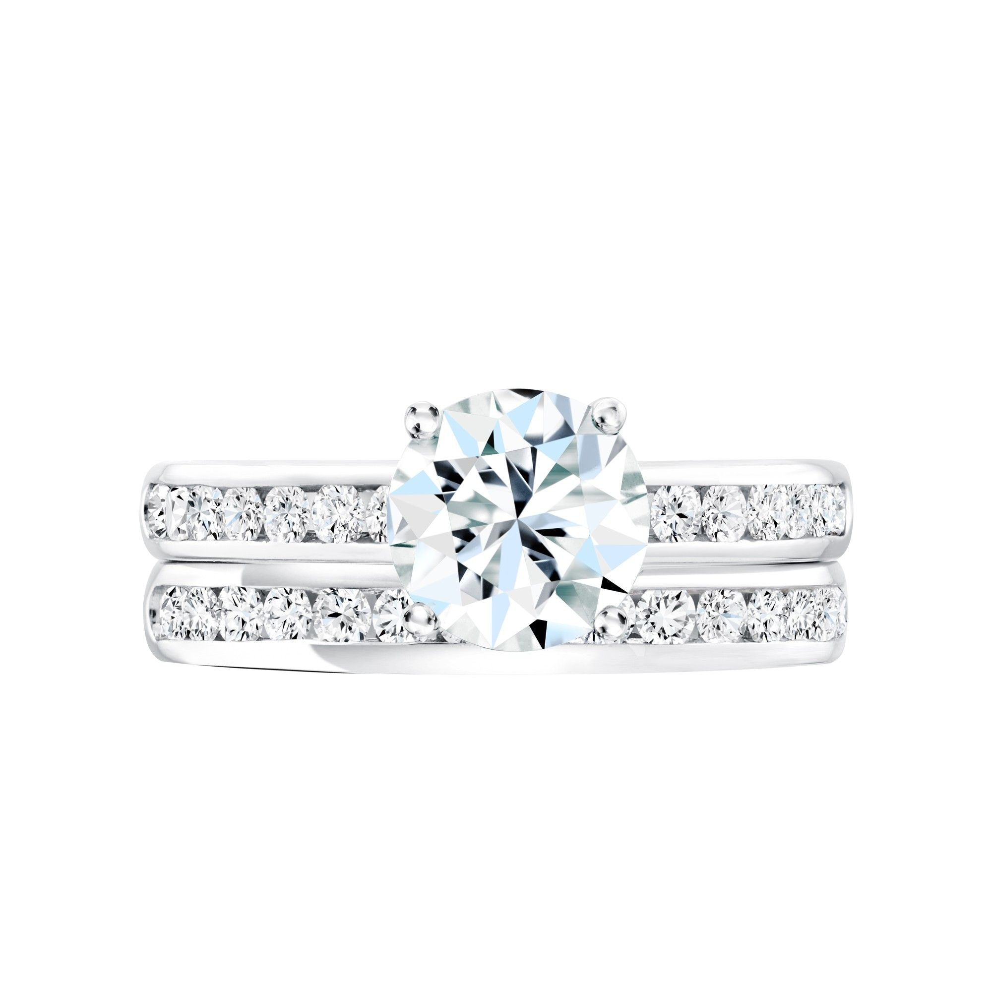 Birks Blue Channel Collection Diamond Solitaire Engagement Ring In 18kt White Gold Channel Engagement Rings Engagement Rings Engagement Ring Inspiration